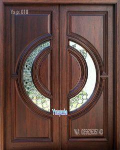 Model Daun Pintu Kayu Jati
