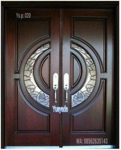 Model Pintu Kayu Kupu Tarung